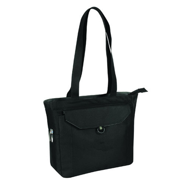 Item #B-82111 Poly Deluxe Zippered Tote Bag