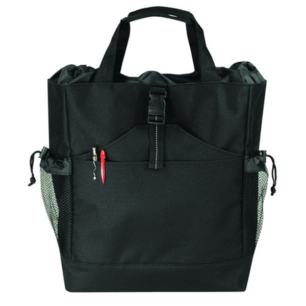 Item #B-82112 Poly Multi-Function Backpack Tote Bag
