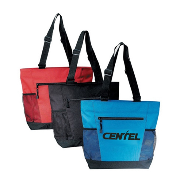 Item #B-8224 Poly Zipper Tote Bag