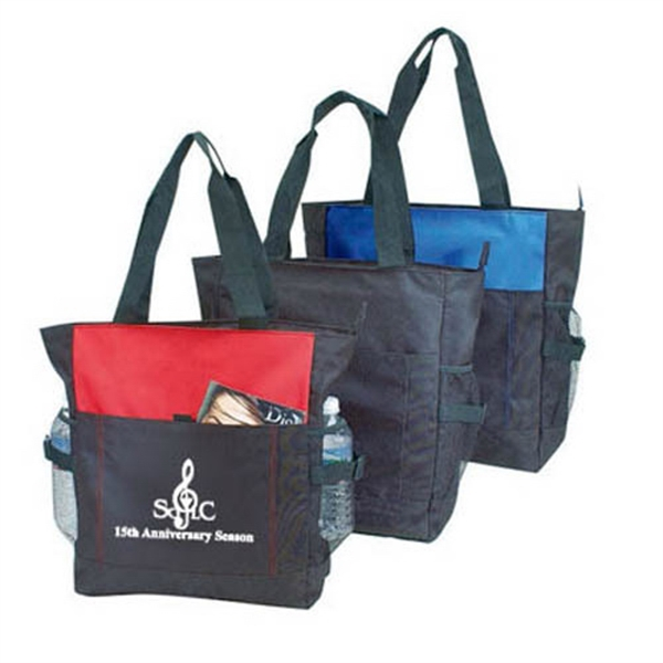 Item #B-8243 Poly Deluxe Zipper Tote Bag