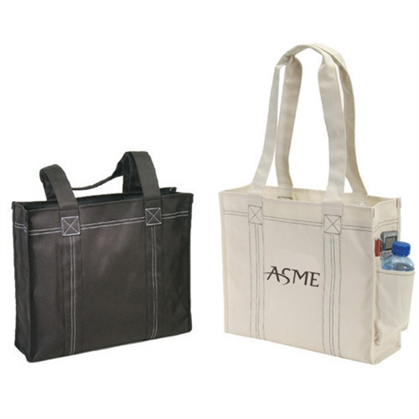 Item #B-8262 Poly Deluxe Tote Bag