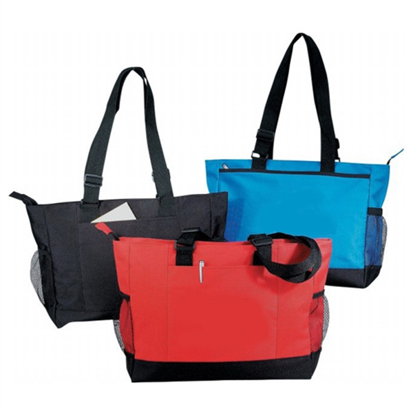 Item #B-8290 Poly Zippered Tote Bag