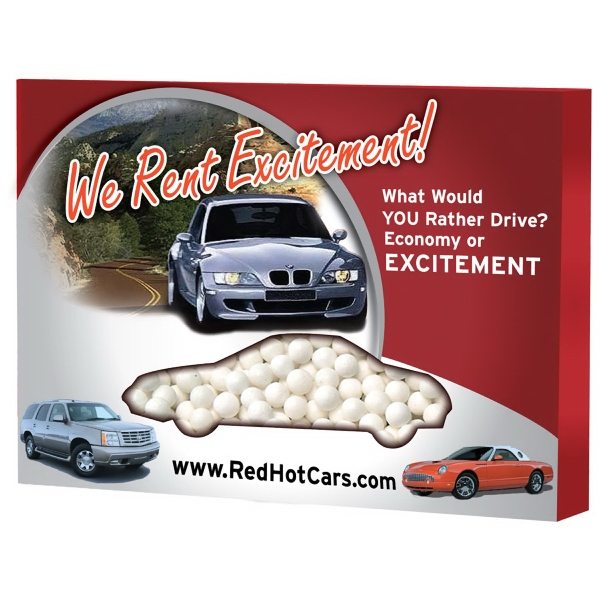 Item #ZBOX-CAR-MINTS Custom Window Box Car filled with Signature Peppermints