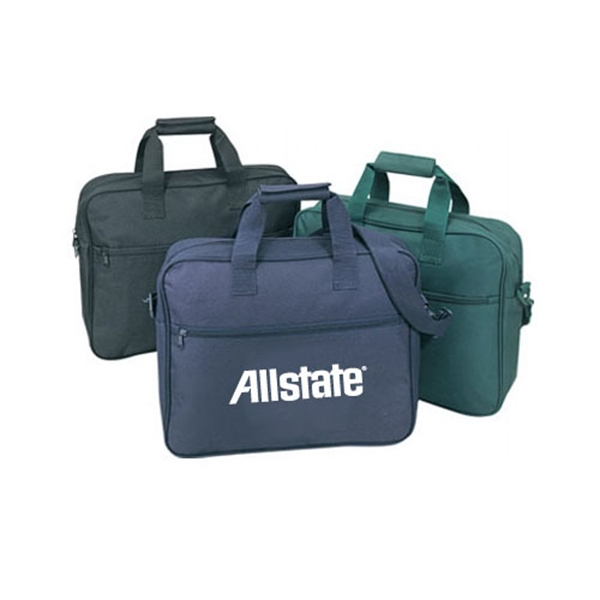 Item #B-8302 Poly Zippered Business Portfolio Bag