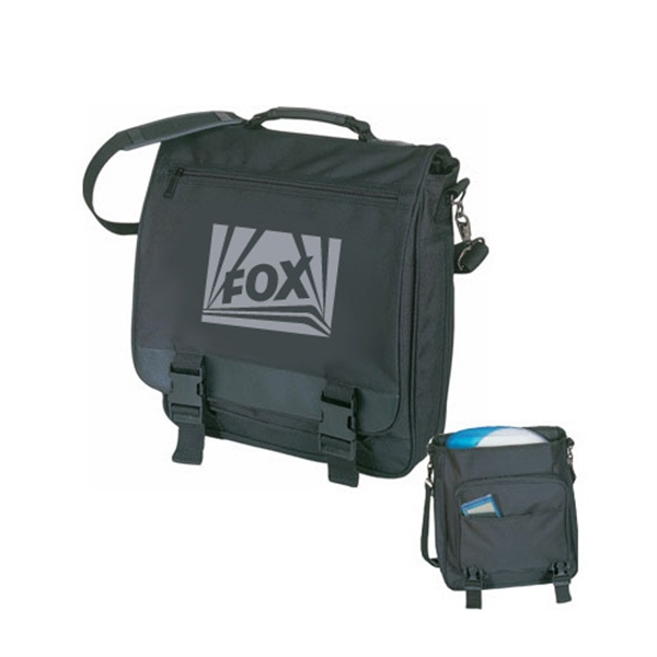 Item #B-8329 Poly Computer Briefcase Messenger Bag