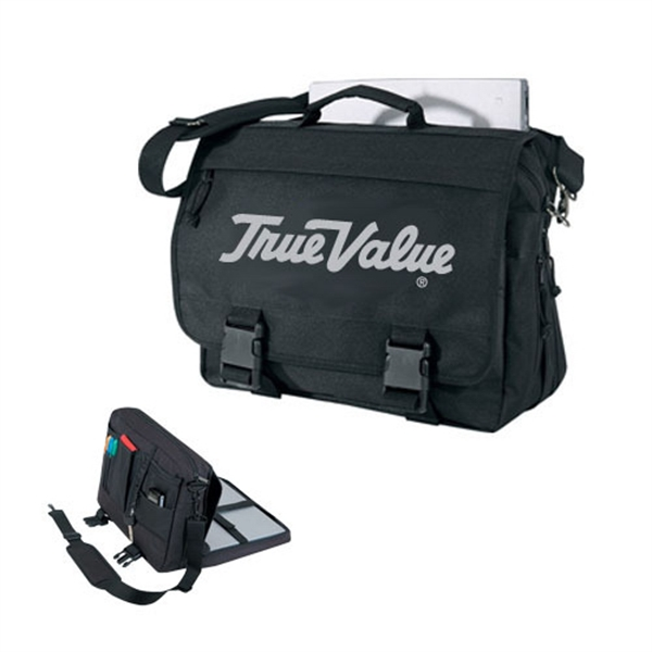 Item #B-8337 Poly Expandable Computer Briefcase Bag