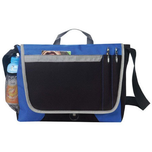 Item #B-8372 Poly Messenger Bag