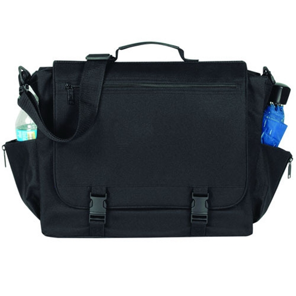 Item #B-8385 Poly Briefcase Messenger Bag