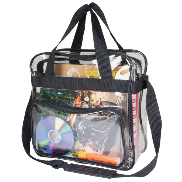 Item #B-8387 Clear Messenger Bag