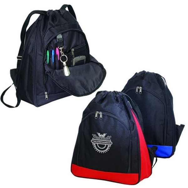 Item #B-8432 Expandable Drawstring Backpack