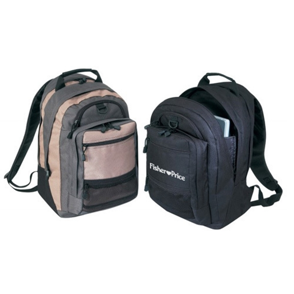 Item #B-8435 Poly Deluxe Computer Backpack