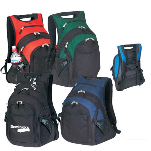 Item #B-8440 Poly Deluxe Computer Backpack