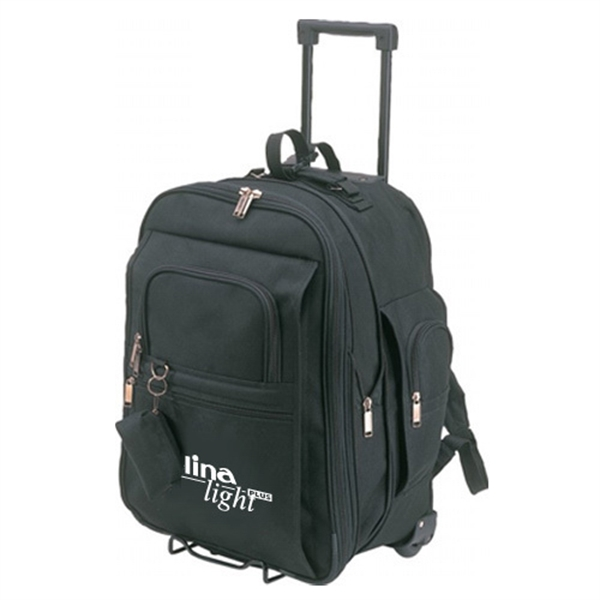 Item #B-8442 Poly Expandable Rolling Backpack