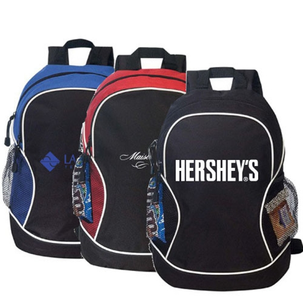 Item #B-8450 Poly Deluxe Zippered Backpack