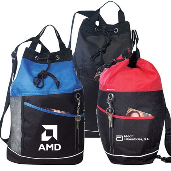 Item #B-8452 Poly Drawstring Mesh Bodypack Bag