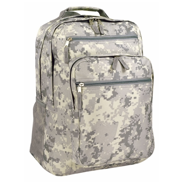 Item #B-8458 Poly Digital Camo Deluxe Backpack