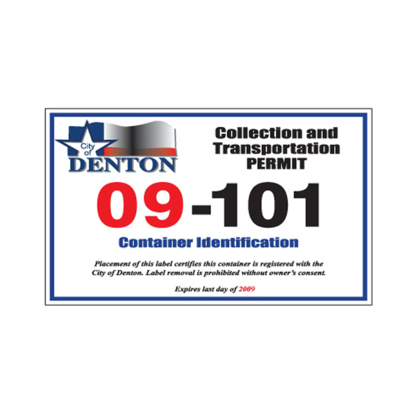 Item #PPD5-4 Parking Permit Decal
