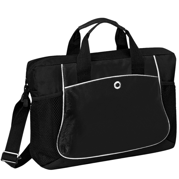 Item #B-8366 Poly Deluxe Messenger Briefcase Bag