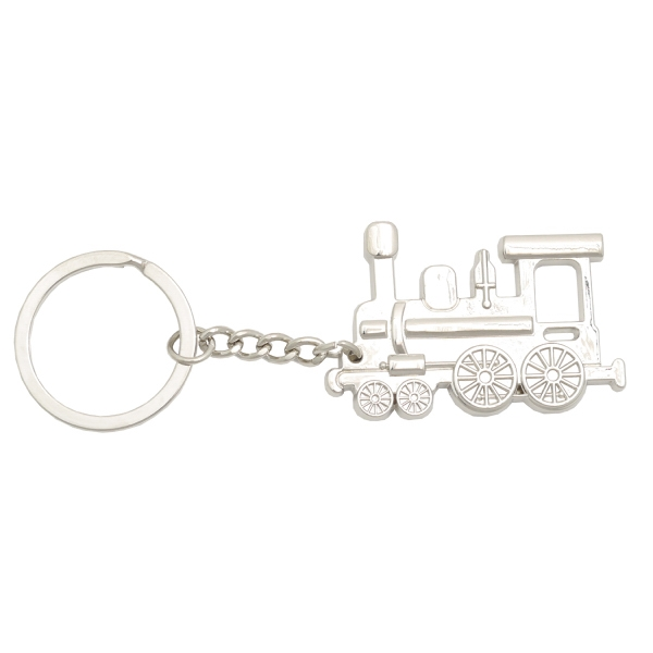 Item #KW-1043 Metal Train Key Tag