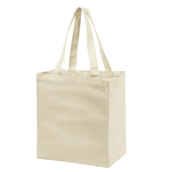 Item #B-82104 Cotton Canvas Shopping Tote Bag