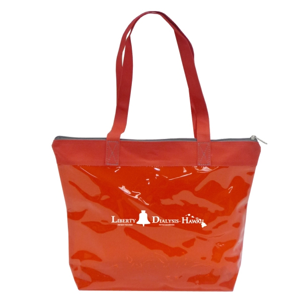 Item #B-6238 Tinted Jelly Style Zipper Tote Bag