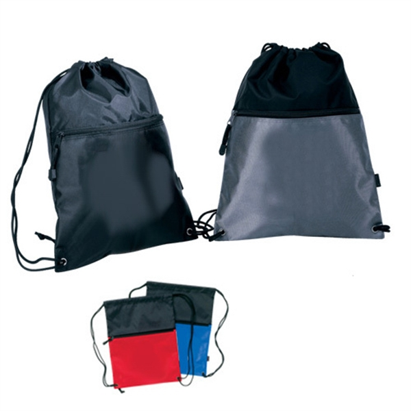 Item #B-6417 Half Tone Drawstring Backpack