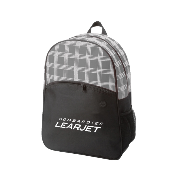 Item #B-6425 Zebra Plaid Hipster Style Backpack