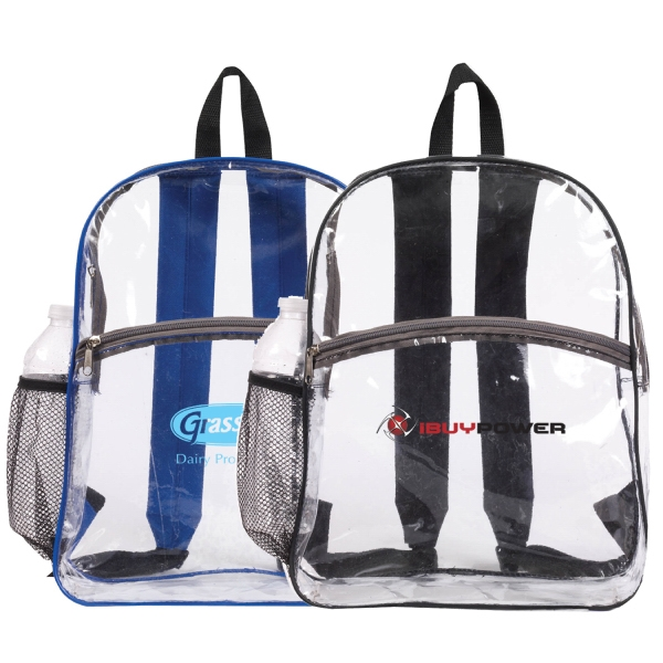 Item #B-6427 Clear Zipper Backpack