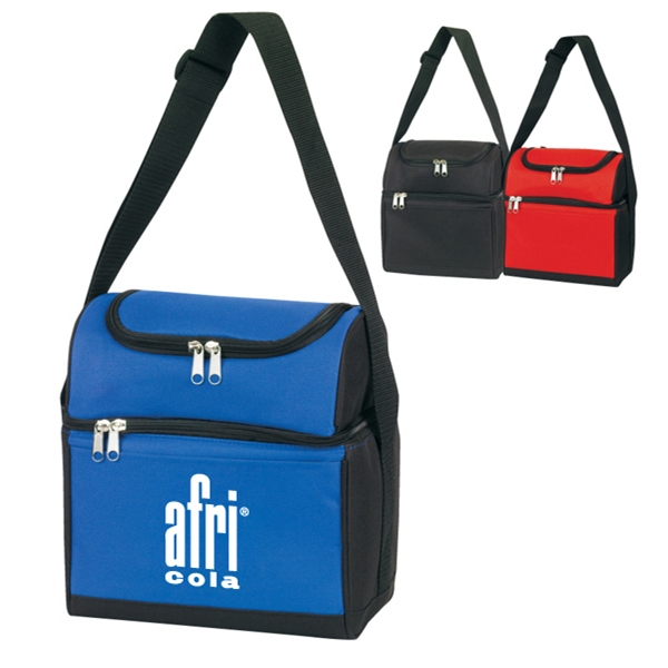 Item #B-6513 Poly Insulated Compartments Lunch Bag