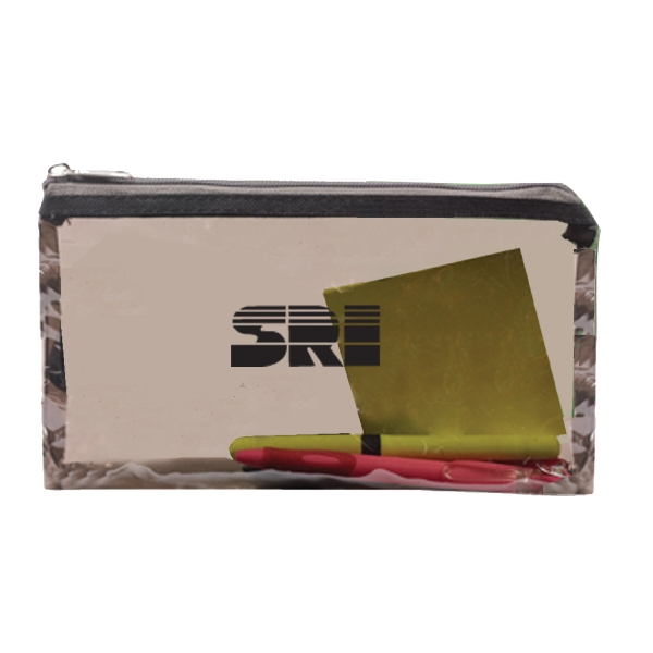 Item #B-6800 Tinted Jelly Zipper Pouch