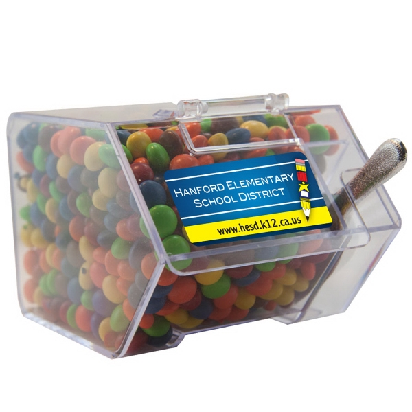 Item #CANDYBIN2-CL Large Candy Bin Dispenser with Chocolate Littles Candy