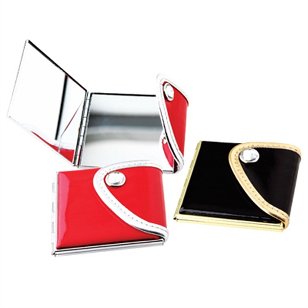 Item #AY-1025 Leather Purse Compact Mirror