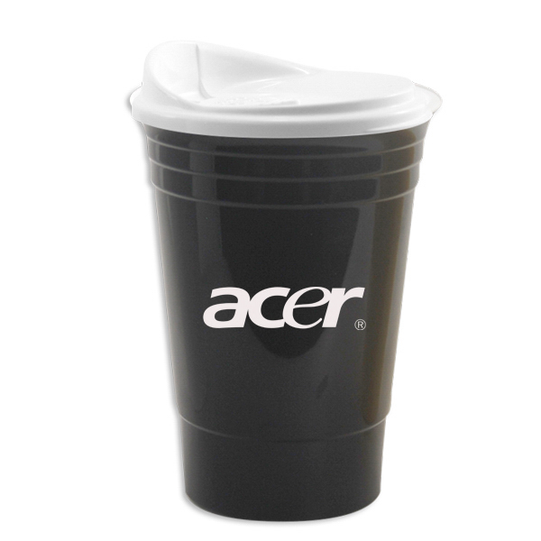 16 Oz Double Wall Insulated Party Cup With Lid Item