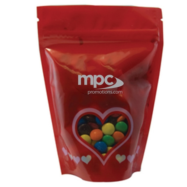 Item #WB2V-MM's Large Window Bag with Compare to M&M(r) candy - Valentine