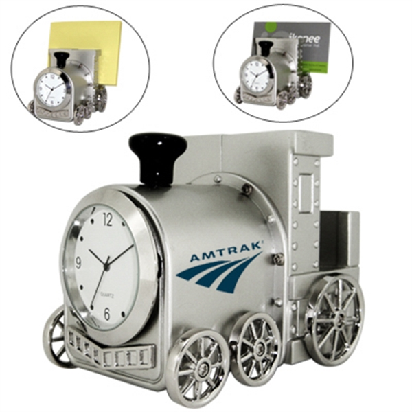 Item #CY-1158 Train Clock Memo Pad