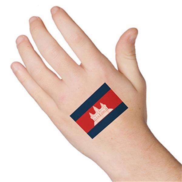 flag of cambodia temporary tattoo item 2480