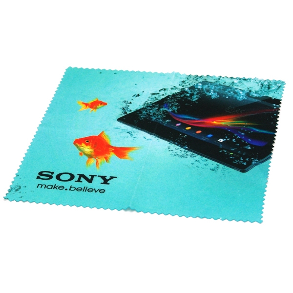 "Item #SMRT-CLOTHFC66 Full Color 6"" x 6"": Microfiber Cloth"