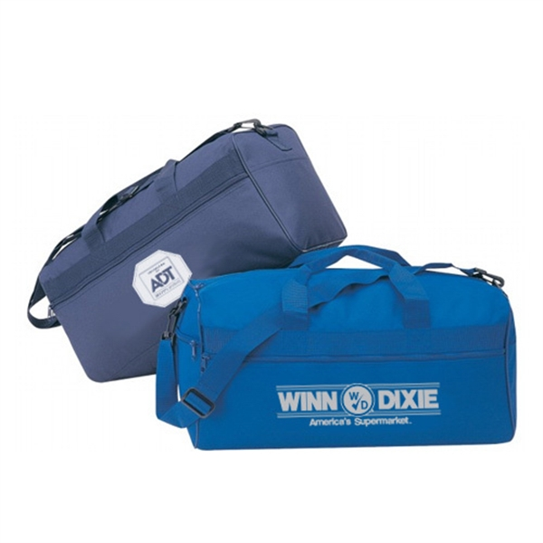 Item #B-8907 Polyester Square Duffel Gym Bag