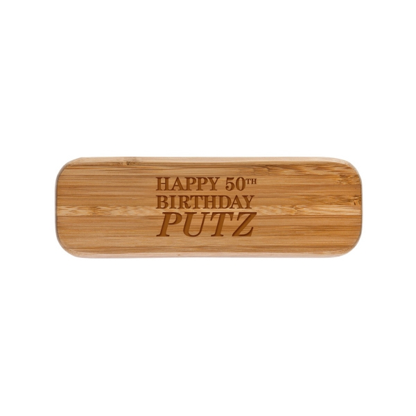 Item #PPK-514 Bamboo Double Pen Wooden Gift Box