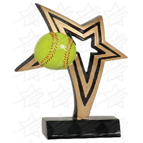 Item #AQ780 7 inch Softball Infinity Star Resin
