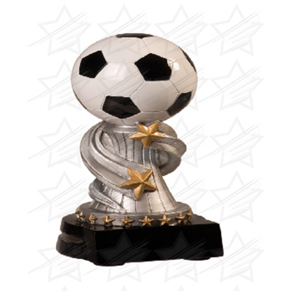 Item #AQ997 5 3/4 inch Soccer Encore Resin
