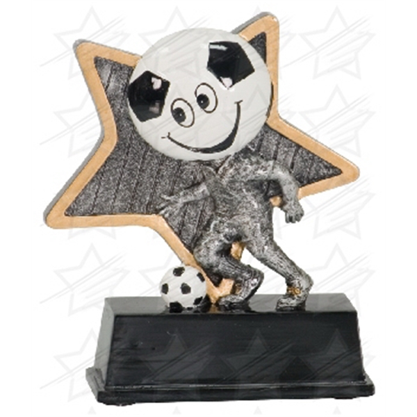 Item #AQ959 5 inch Soccer Little Pal Resin