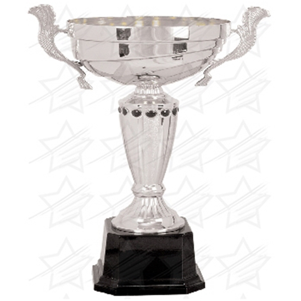 Item #AR164 14 1/2 inch Silver Completed Metal Cup Trophy