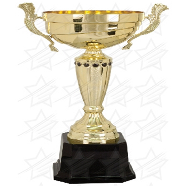 Item #AR156 15 1/2 inch Gold Completed Metal Cup Trophy