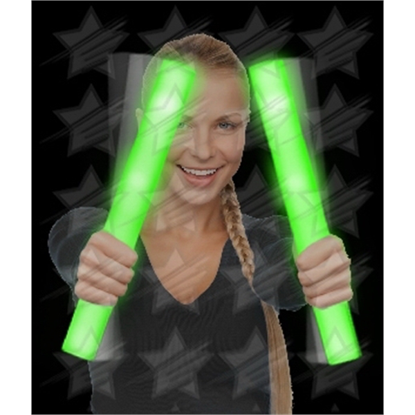 Item #G29-B BLANK LED Foam Stick Baton Supreme - Green