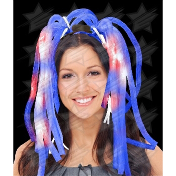 Item #R367-B BLANK LED Party Dreads - Blue