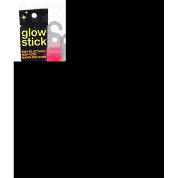 Item #X536-B BLANK 6 Inch Retail Packaged Glow Stick - Assorted