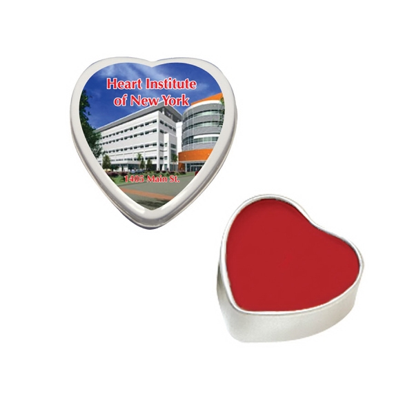 Item #LIP BALM-HEART Heart Tin with Premium Lip Balm - Valentines Day