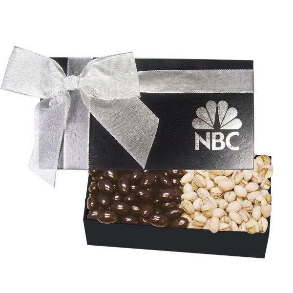 Item #GB2D-NUTS The Executive Chocolate Covered Almond & Pistachio Gift Box