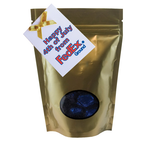 Item #WB2GO-FOIL Large Window Bag with Hard Foil Candy - Gold